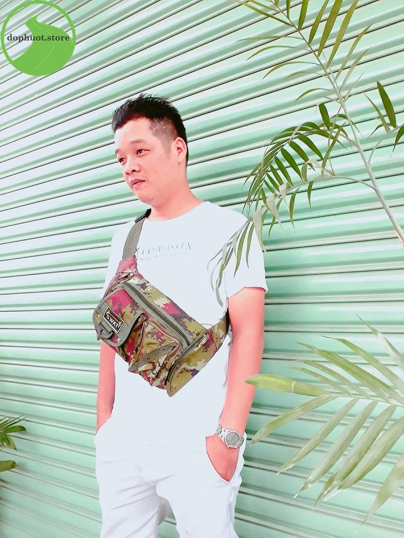 Túi đeo bụng Swat Xanh- Rằn Ri