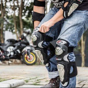 Giáp tay chân inox Pro-biker
