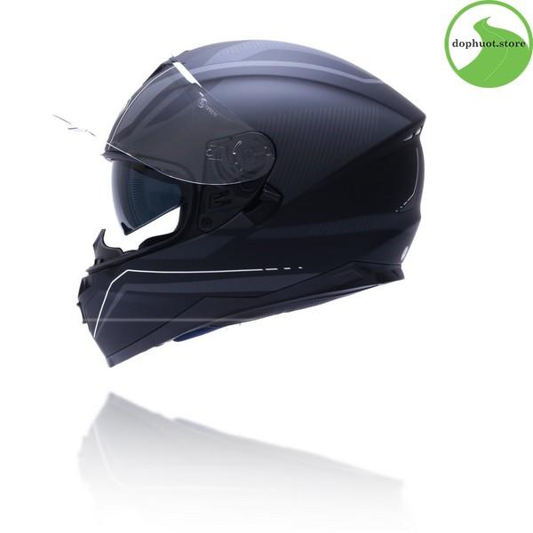 Vỏ mũ bảo hiểm Yohe 967 được làm từ nhựa ABS nguyên sinh cao cấp