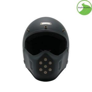 Chất liệu vỏ mũ bảo hiểm cao cấp là nhựa được tráng lớp sơn mờ