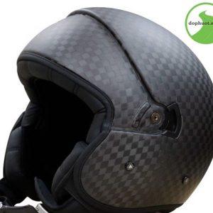Mũ bảo hiểm ls2 OF59 được làm từ chất liệu sợi carbon cao cấp
