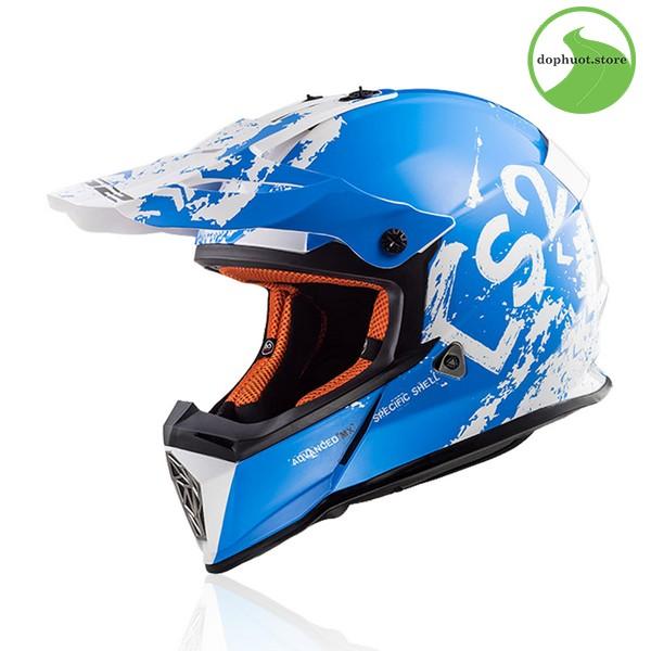 Mũ off road LS2 FAST MX437 màu vàng hiện đại
