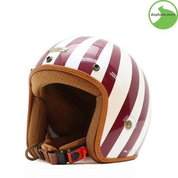 Vỏ mũ bảo hiểm Bulldog Heli Fiberglass được làm từ sợi thủy tinh cao cấp