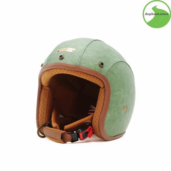 Mũ bảo hiểm Bulldog Leather 2017 có vỏ được làm từ chất liệu da công nghiệp cao cấp