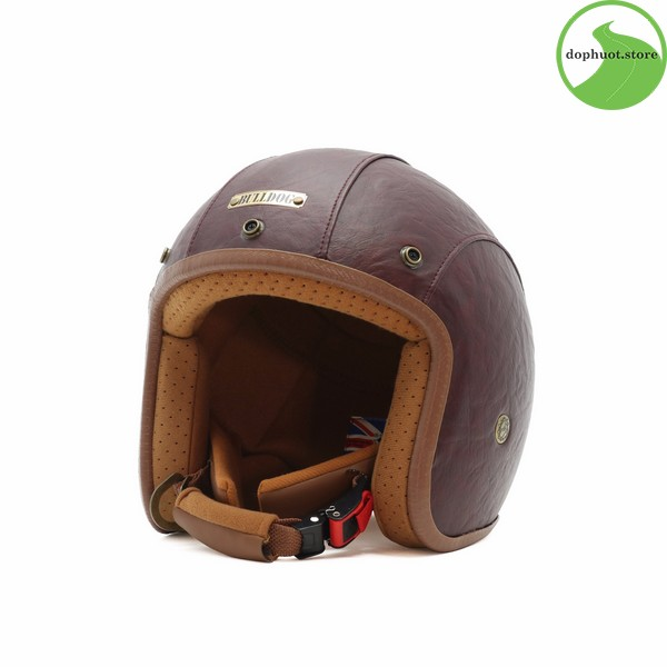 Phần đuôi của mũ bảo hiểm Bulldog Leather 2017 được vuốt rất tinh tế
