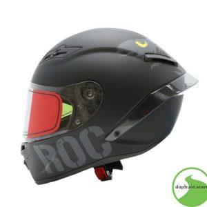 mũ bảo hiểm roc đen bóng