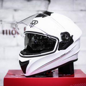 nón bảo hiểm YOHE 981 màu trắng