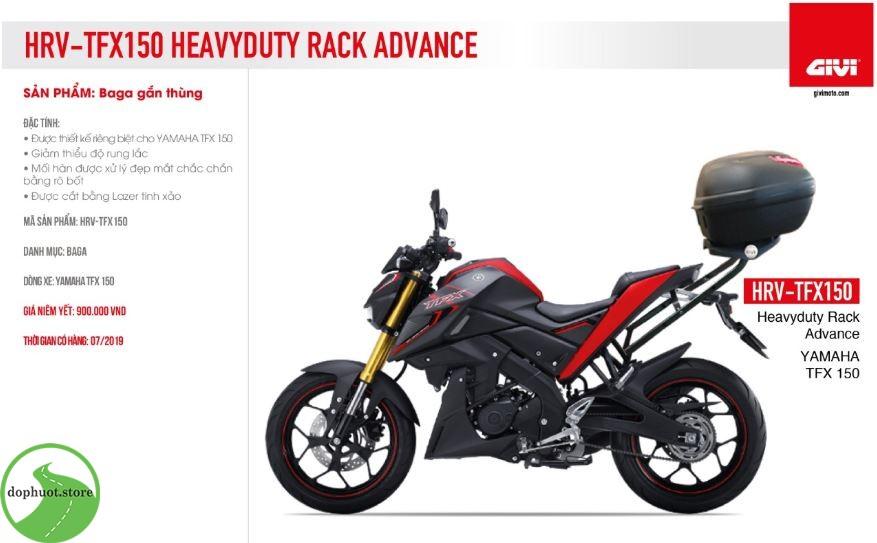 Baga givi HRV cho xe Yamaha TFX150