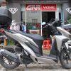 Xe Honda Vario lên thùng Givi E43N và baga Givi SRV